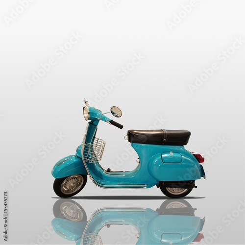 Scooter Retro scooter on white background