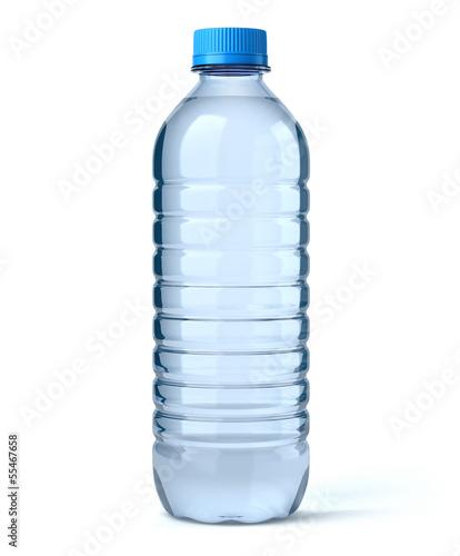 Fotografia  Bouteille d'eau sur fond blanc 1