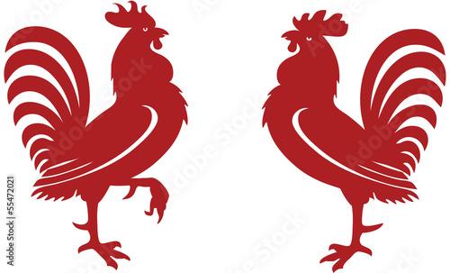 Fotografie, Obraz Stylised red rooster