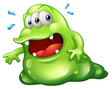 A Greenslime Monster Escaping