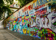 Graffiti Wall In Old Prague