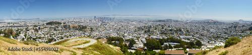Foto auf Leinwand San Francisco San Francisco panorama, from Twin Peaks, California
