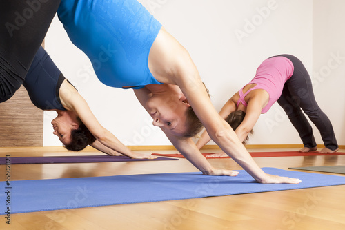 Spoed Foto op Canvas School de yoga Yoga Exercise