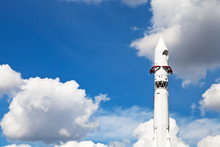 Space Rocket Vostok And Blue S...