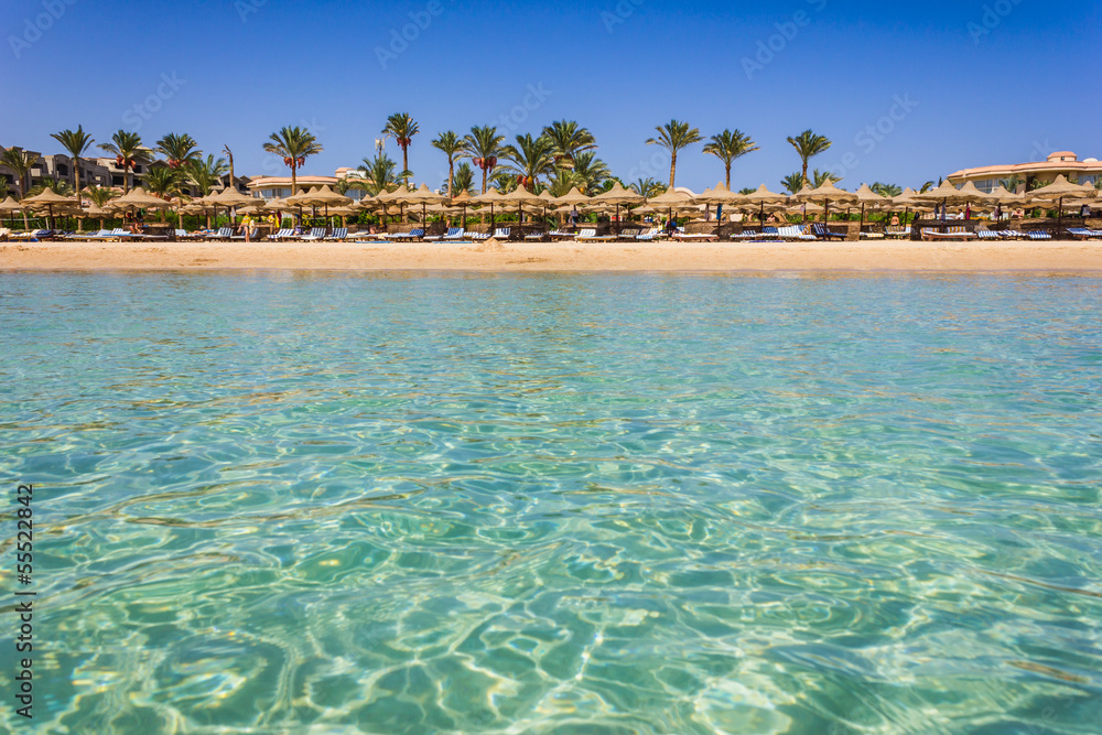 Fototapeta  the coast of Africa in Egypt by sea