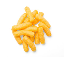 Cheese Curls Isolated