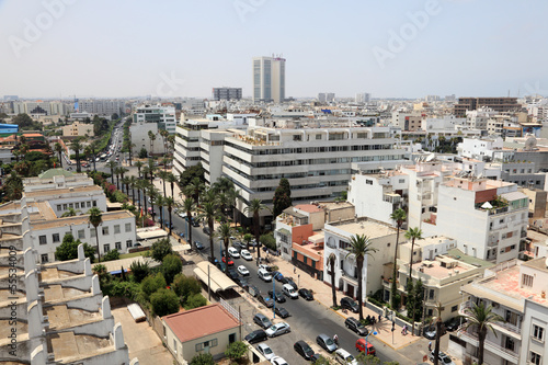Photo  View over the city of Casablanca, Morocco