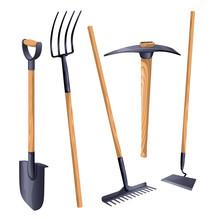 Gardening Groundworks Tools. V...