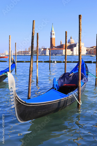 Foto op Plexiglas Venetie Grand Canal with gondolas in Venice