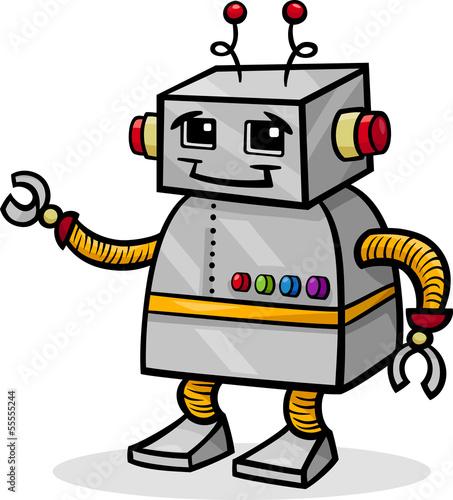 robot-kreskowka-lub-droid-ilustracja
