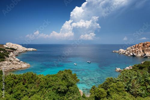 Photo  Capo Testa bay in Sardinia. Italy