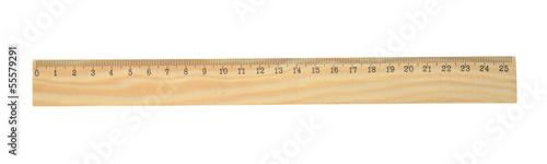 Fotografía  Wooden ruler.