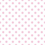 Seamless vector pattern pastel pink polka dots white background - 55581044