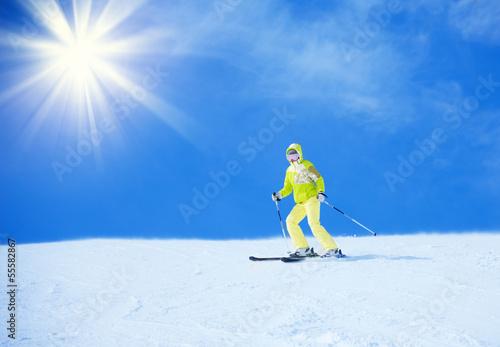 Foto-Vorhang - Ultimate ski vacation (von Sergey Novikov)