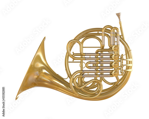 Fotografía French Horn Isolated
