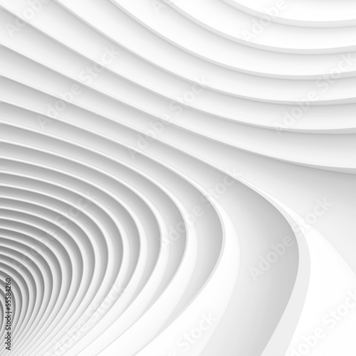 Staande foto Abstract wave Architecture Render