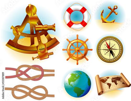 morskich-podrozy-ikona-i-symbole-wektor-zestaw