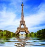 Fototapeta Wieża Eiffla - Greetings from Paris