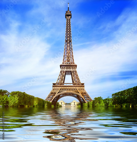 Foto op Aluminium Eiffeltoren Greetings from Paris