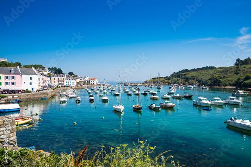 Fotografie, Obraz  Port of Sauzon at Island Belle Ile an Mer, France