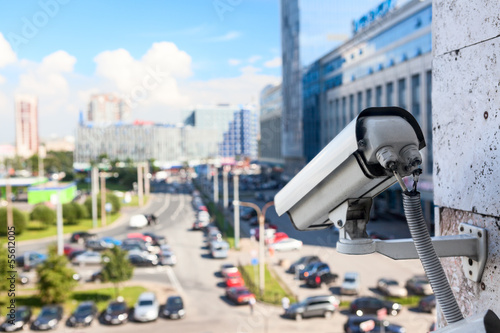 Video surveillance cameras for monitoring on streets