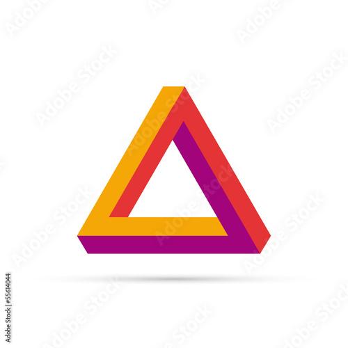 Fotografie, Obraz  Vector logo triangle 3D
