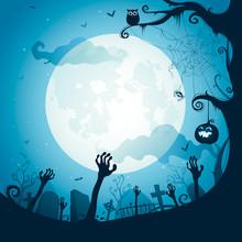 Halloween Illustration - Grave...