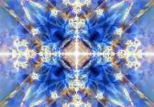 Blue Kaleidoscope Background