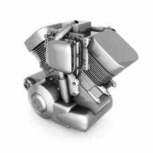Chromed Motorcycle Engine