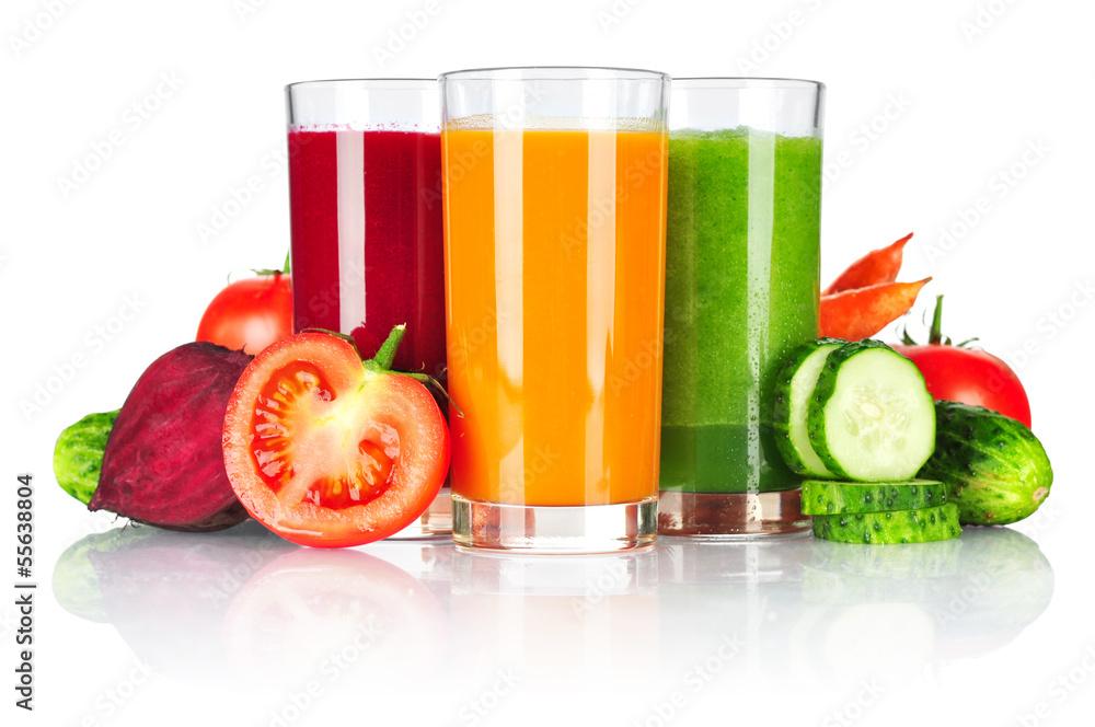 Fototapety, obrazy: Fresh vegetable smoothie