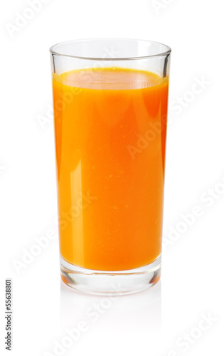 Foto op Canvas Sap Fresh carrot juice