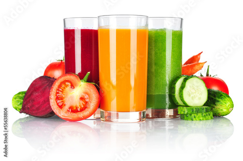 Obraz Fresh vegetable smoothie - fototapety do salonu