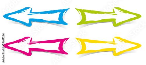 Obraz Fleches couleurs - Pinceau - fototapety do salonu