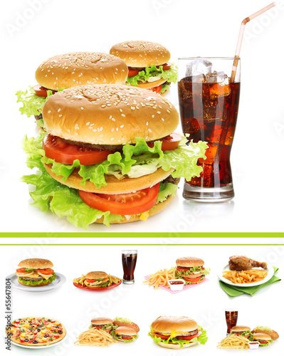 Collage of fast food © Africa Studio