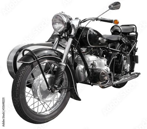 Deurstickers Fiets antikes Motorrad, Bike, Krad, Oldtimer