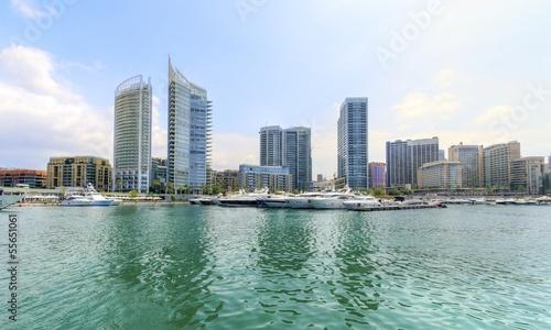 Photographie Zaitunay Bay in Beirut, Lebanon