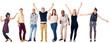 canvas print picture - happy diverse people