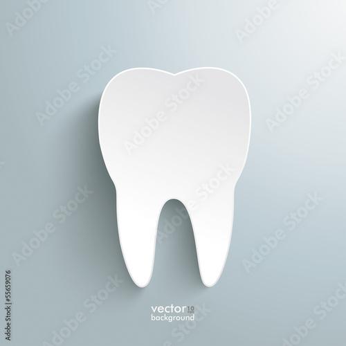 Fotografie, Obraz  White Tooth Background