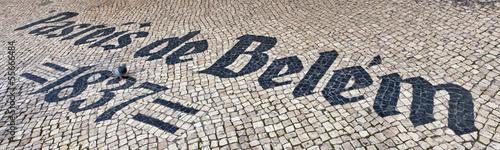 фотография Pasteis de Belem sign inlaid in mosaics
