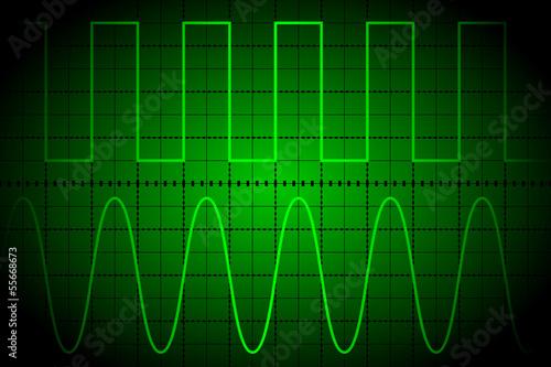Fotografie, Obraz  Screen digital oscilloscope