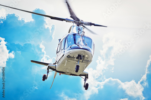 Poster Helicopter VIP Hubschrauber im Anflug