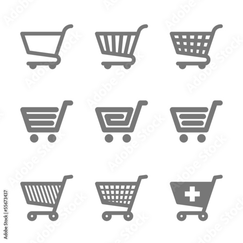 Carta da parati Shopping cart icons