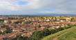 Carcassonne - Vue sur la bastide St Louis depuis la Cité