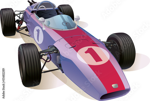 Foto op Canvas F1 Classic F1 Racing Car