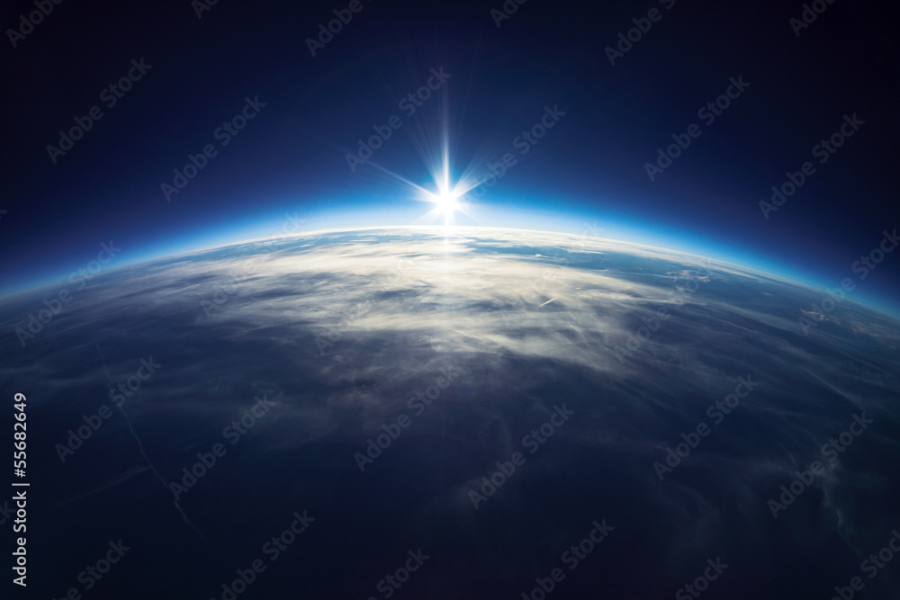 Fototapety, obrazy: Near Space photography - 20km above ground / real photo