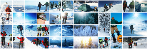 Photo sur Aluminium Glisse hiver Winter sport