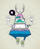 Fototapeta Fototapety dla młodzieży do pokoju - Triangle hipster bizarre character