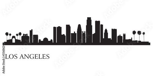 Photo Los Angeles city skyline silhouette background