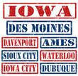 Iowa Cities stamps