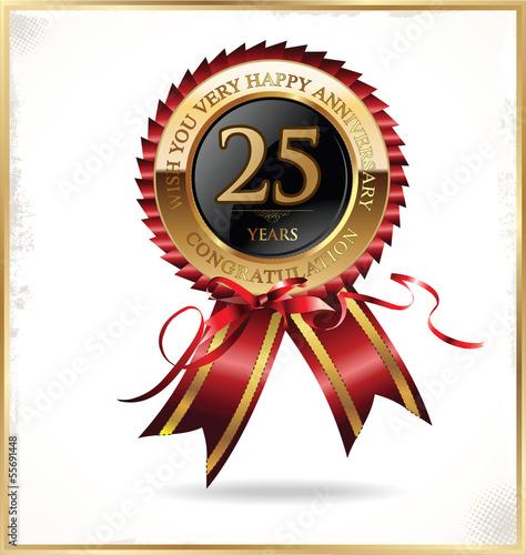 Fotografia  25 years anniversary label